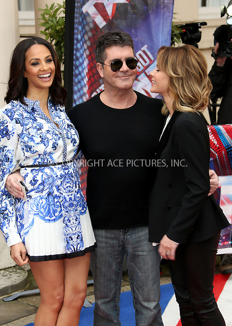 WWW.ACEPIXS.COM....US Sales Only....April 11 2013, London....Alesha Dixon, Simon Cowell and Amanda Holden at the photocall for Britain's Got Talent on April 11 2013 in London ....By Line: Famous/ACE Pictures......ACE Pictures, Inc...tel: 646 769 0430..Email: info@acepixs.com..www.acepixs.com