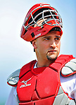 3 March 2011: St. Louis Cardinals' catcher Nick Derba in action during a Spring Training game against the Washington Nationals at Roger Dean Stadium in Jupiter, Florida. The Cardinals defeated the Nationals 7-5 in Grapefruit League action. Mandatory Credit: Ed Wolfstein Photo