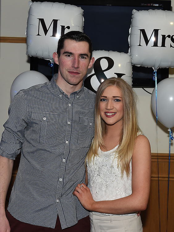 John Bingham and Grace Carey who won the Mr & Mrs competition in St Mary's GFC in Ardee. Photo:Colin Bell/pressphotos.ie