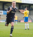 ALLAN WALKER CELEBRATES AFTER HE SCORES ROVERS' SECOND