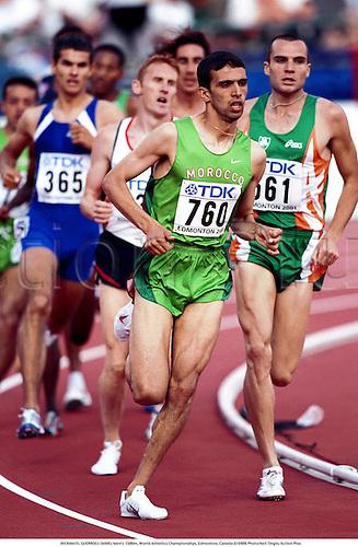 HICHAM EL GUERROUJ (MAR), Men's 1500m, World Athletics Championships, Edmonton, Canada 010809 Photo:Neil Tingle/Action Plus...Athletics.2001.man.track and field.male