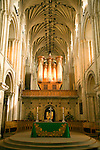 Organ and altar, Norwich cathedral, Norwich, Norfolk, England