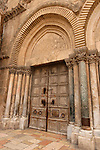 Israel, Jerusalem, the Old City, The doors at the entrance of the Church of the Holy Sepulchre<br />