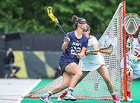College Park, MD - May 19, 2018: Navy Julia Collins (22) in action during the quarterfinal game between Navy and Maryland at  Field Hockey and Lacrosse Complex in College Park, MD.  (Photo by Elliott Brown/Media Images International)