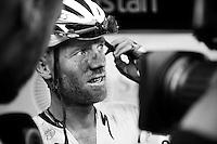2014 cobbled TdF-stage winner Lars Boom (NLD/Astana) interviewed post-race<br /> <br /> stage 4: Seraing (BEL) - Cambrai (FR) <br /> 2015 Tour de France