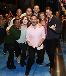 "Cast members making their Broadway Debuts during the Actors' Equity Gypsy Robe Ceremony  honoring Matt Allen for ""Escape To Margaritaville"" at The Marquis Theatre on March 15, 2018 in New York City."