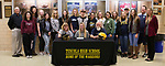 November 1, 2017- Tuscola, IL- Tuscola Warrior Softball player Ashtyn Clark signed her letter of intent to play softball for the Olney Central College Blue Knights surrounded by friends, family, and coaches. [Photo: Douglas Cottle]