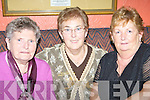LADIES' NIGHT OUT: Having a wonderful Women's Christmas in the Brogue Inn, Tralee,  on Sunday night were, l-r: Peggy Quirke, Maureen Roche, both Stack's Villas, and Ann O'Connor, Mounthawk.   Copyright Kerry's Eye 2008