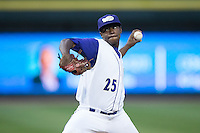 Winston-Salem Dash starting pitcher Andre Wheeler (25) in action against the Myrtle Beach Pelicans at BB&T Ballpark on May 9, 2015 in Winston-Salem, North Carolina.  The Dash defeated the Pelicans 6-1 in the second game of a double-header.  (Brian Westerholt/Four Seam Images)
