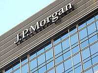 J.P.Morgan, one of prominent commercial buildings located at the Central financial district, Hong Kong, Chian. J.P. Morgan is a leader in financial services, offering solutions to clients in more than 100 countries with one of the most comprehensive global product platforms available..