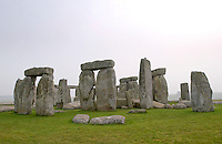 The famous stone circle at Stonehenge, England