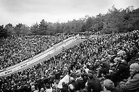 riders descending into the famous roaring 'Pit' <br /> <br /> Men Elite Race<br /> Superprestige Zonhoven 2015