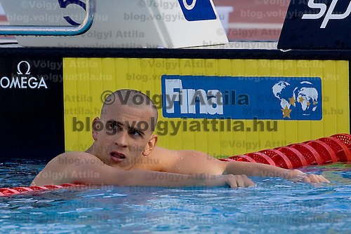 Laszlo Cseh (HUN) competes in 400 m Men's Individual Medley Swimming competition during the 13th FINA Swimming World Championships held in Rome, Italy. Sunday, 02. August 2009. ATTILA VOLGYI