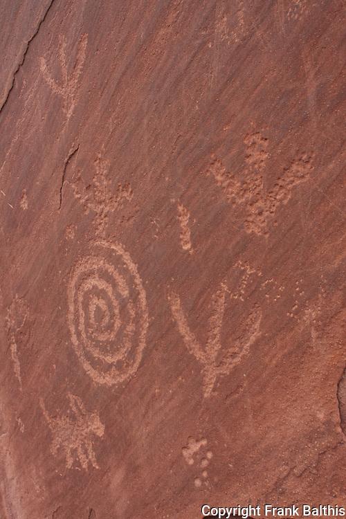 South entrance of Zion NP petroglyph