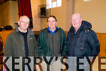 Pictured at the County Finals of Scor Sinsear held in Brosna on Saturday was L-R: John and Denis McCarthy,  Liam O'Cathain, representing Currow.