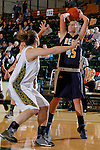 SPEARFISH, SD - DECEMBER 21, 2013:  Sarah Seefeldt #45 of Regis shoots over Black Hills State defender Logan Cowan #44 during their Rocky Mountain Athletic Conference game Saturday at the Donald E. Young Center in Spearfish, S.D.  (Photo by Dick Carlson/Inertia)