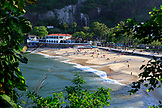 BRAZIL, Rio de Janiero, Urca Beach, located at the base of Sugarloaf Mountain