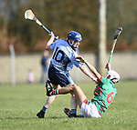 Martin Walsh of Scariff Community College in action against Thep Fitzpatrick of St Fergal's College during their All-Ireland Colleges final at Toomevara. Photograph by John Kelly.
