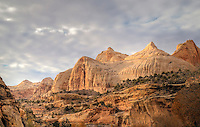 Unusual Skies and Rock Formations at Capital Reef National Park, Utah