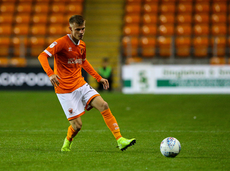 Blackpool's Calum MacDonald in action<br /> <br /> Photographer Alex Dodd/CameraSport<br /> <br /> EFL Leasing.com Trophy - Northern Section - Group G - Blackpool v Morecambe - Tuesday 3rd September 2019 - Bloomfield Road - Blackpool<br />  <br /> World Copyright © 2018 CameraSport. All rights reserved. 43 Linden Ave. Countesthorpe. Leicester. England. LE8 5PG - Tel: +44 (0) 116 277 4147 - admin@camerasport.com - www.camerasport.com