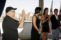 Montreal (Qc) Canada - Aug 31 2010 - Serge Losique applaud The jury of  the 2010 World Film Festival : Pr&Egrave;sident : BILLE AUGUST, r&Egrave;alisateur (Danemark)<br /> IR??NE BIGNARDI, journaliste et directrice de festivals (Italie)<br /> ANNE-MARIE CADIEUX, actrice (Canada)<br /> MARWAN HAMED, r&Egrave;alisateur (&hellip;gypte)<br /> IGOR MINAEV, r&Egrave;alisateur (Ukraine-France)<br /> &hellip;DOUARD MOLINARO, r&Egrave;alisateur (France)<br /> LIJUNG TANG, directrice de festivals (Chine)
