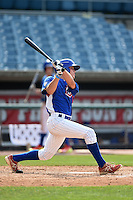 Ty Holton (18) of Lincoln High School in Tallahassee, Florida playing for the Chicago Cubs scout team during the East Coast Pro Showcase on August 1, 2014 at NBT Bank Stadium in Syracuse, New York.  (Mike Janes/Four Seam Images)