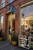 Paper Dreams card and stationery store, historical Fairhaven district of Bellingham, Washington state, USA