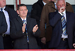 Dundee v St Johnstone...25.04.15   SPFL<br /> Saints Chairman Steve Brown applauds<br /> Picture by Graeme Hart.<br /> Copyright Perthshire Picture Agency<br /> Tel: 01738 623350  Mobile: 07990 594431