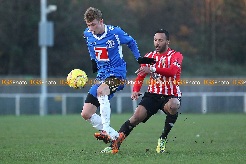 Chris Bourne in action for Hornchurch - AFC Hornchurch vs Leiston - Ryman League Premier Division Football at the Stadium, Bridge Avenue, Upminster Bridge - 06/12/14 - MANDATORY CREDIT: Gavin Ellis/TGSPHOTO - Self billing applies where appropriate - contact@tgsphoto.co.uk - NO UNPAID USE