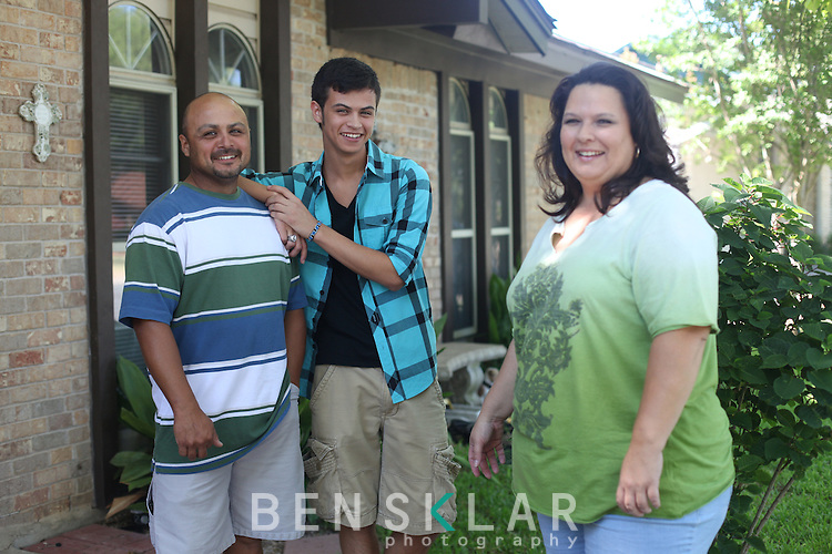 Cree Bautista, of Austin, Texas, with his parents Ron and Stephanie, was the first high school student to submit his common application to his first school of choice, NYU, at 12:01 a.m. on Sunday, August 1. Bautista worked on his college applications online in his parents' bedroom..