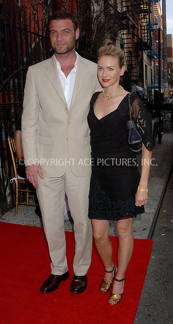 WWW.ACEPIXS.COM . . . . .  ....NEW YORK, MAY 31, 2006....Liev Schreiber and Naomi Watts at the Cinema Society and DKNY Jeans present a special screening of The Omen.....Please byline: AJ Sokalner - ACEPIXS.COM.... *** ***..Ace Pictures, Inc:  ..(212) 243-8787 or (646) 769 0430..e-mail: picturedesk@acepixs.com..web: http://www.acepixs.com