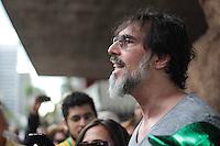 SÃO PAULO,SP,17.05.2015 - PROTESTO SP - O cantor Lobão durante Marcha do Panelaço ato organizado pela internet realizado no vão livre do Masp na Avenida Paulista região centro sul de São Paulo, neste domingo, 17. (Foto Marcio Ribeiro / Brazil Photo Press).