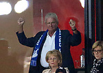 10.09.2017, Wirsol Rhein-Neckar-Arena, Sinsheim, GER, 1.FBL, TSG 1899 Hoffenheim vs FC Bayern M&uuml;nchen<br />  im Bild<br /> Dietmar Hopp jubelt &uuml;ber den Sieg gegen Bayern M&uuml;nchen<br /> Foto &copy; nordphoto / Bratic