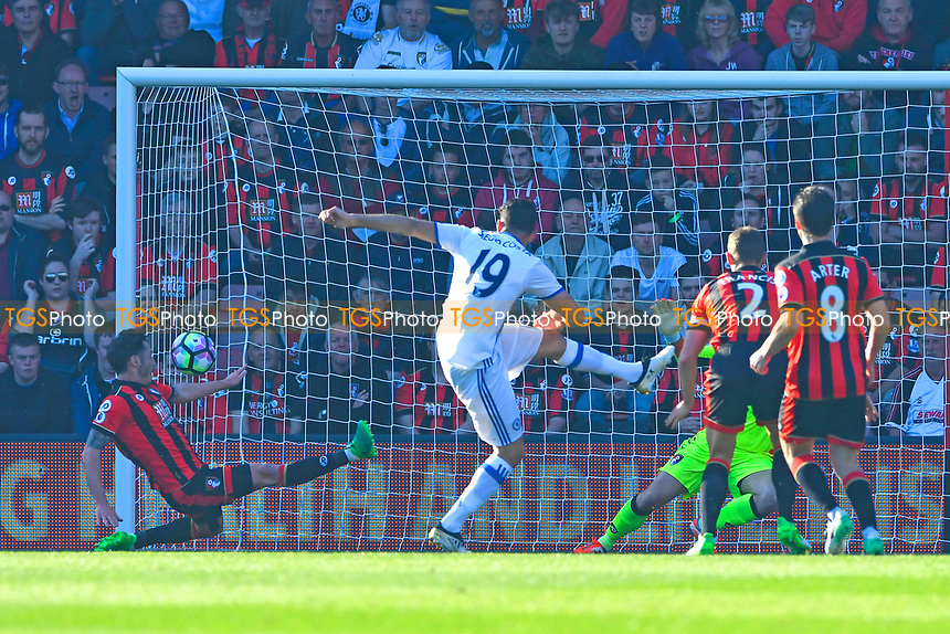 Diego Costa of Chelsea scores the first goal during AFC Bournemouth vs Chelsea, Premier League Football at the Vitality Stadium on 8th April 2017