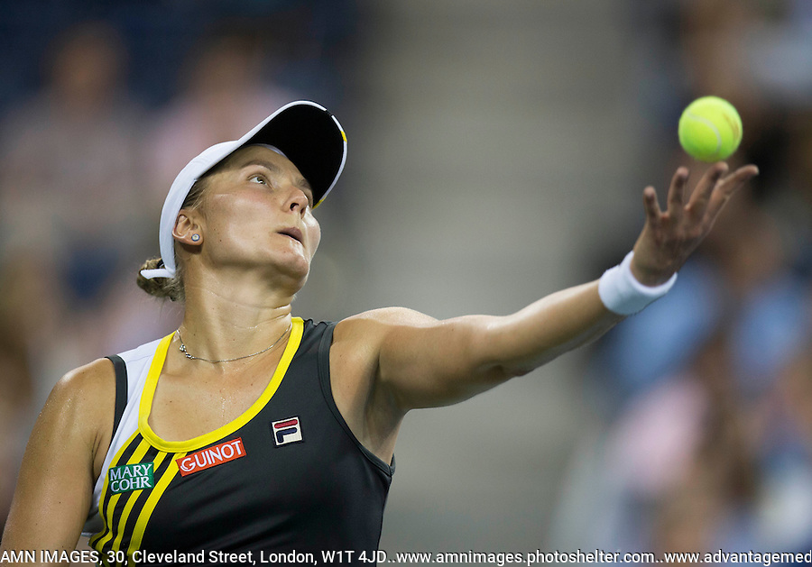 Nadia Petrova..Tennis - US Open - Grand Slam -  New York 2012 -  Flushing Meadows - New York - USA - Sunday 2nd September  2012. .© AMN Images, 30, Cleveland Street, London, W1T 4JD.Tel - +44 20 7907 6387.mfrey@advantagemedianet.com.www.amnimages.photoshelter.com.www.advantagemedianet.com.www.tennishead.net