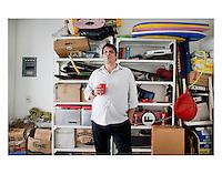 Luis Mdahuar in Kurt and Rocio's garage, Condesa Mexico City.