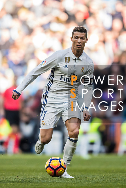 Cristiano Ronaldo of Real Madrid in action during their La Liga match between Real Madrid and Granada CF at the Santiago Bernabeu Stadium on 07 January 2017 in Madrid, Spain. Photo by Diego Gonzalez Souto / Power Sport Images