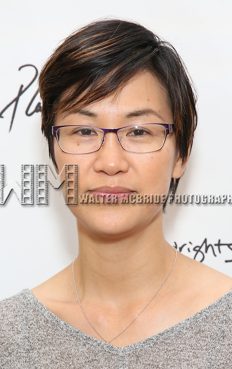 Cindy Cheung attends the photo call for Playwrights Horizons world premiere production of 'Log Cabin' on May 8, 2018 at Playwrights Horizons rehearsal hall in New York City.