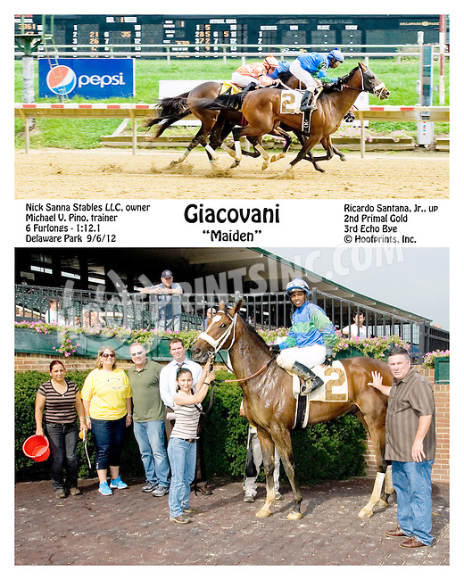 Giacovani winning at Delaware Park on 9/6/12