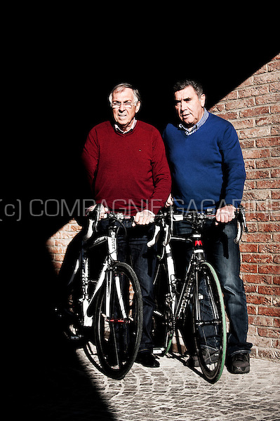 Belgian cyclists Eddy Merckx and Patrick Sercu (Belgium, 06/11/2012)