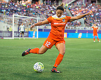 Orlando, Florida - Saturday, April 23, 2016: Houston Dash midfielder Amber Brooks (12) during an NWSL match between Orlando Pride and Houston Dash at the Orlando Citrus Bowl.