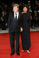 VENICE, ITALY - September 1st: Robert Redford and Sibylle Szaggars attend the red carpet during 74th Venice Film Festival at Palazzo Del Cinema on September 1st,, 2017 in Venice, Italy. (Mark Cape/insidefoto)