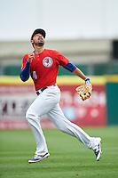 Buffalo Bisons shortstop Jio Mier (4) during a game against the Louisville Bats on June 20, 2016 at Coca-Cola Field in Buffalo, New York.  Louisville defeated Buffalo 4-1.  (Mike Janes/Four Seam Images)