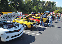 NWA Democrat-Gazette/MICHAEL WOODS • @NWAMICHAELW<br /> The 4th annual car show Saturday September 26, 2015 at Arrest Ballpark in Springdale. The 16th annual Bikes, Blues and BBQ Motorcycle Rally runs through Saturday on Dickson Street, Baum Stadium and the Washington County Fairgrounds in Fayetteville and all day Saturday at Arvest Ballpark in Springdale.<br /> The 16th annual Bikes, Blues and BBQ Motorcycle Rally runs through Saturday on Dickson Street, Baum Stadium and the Washington County Fairgrounds in Fayetteville and all day Saturday at Arvest Ballpark in Springdale.
