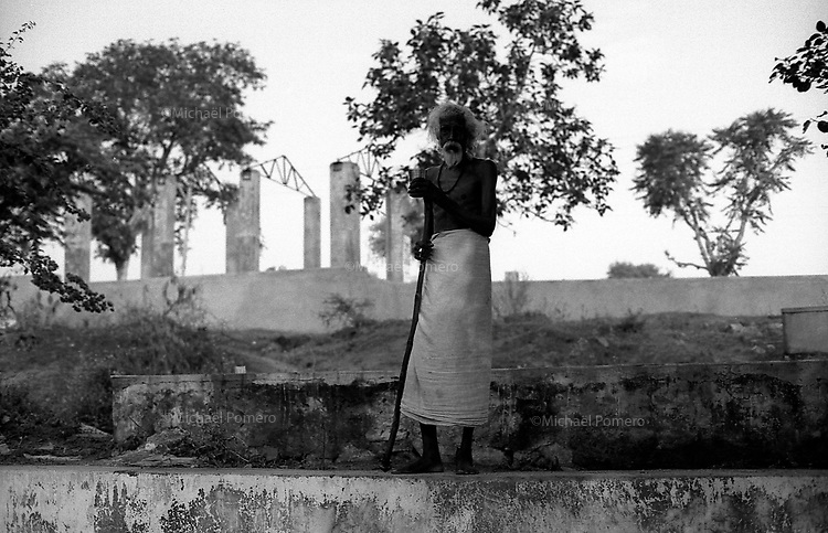 11.2010 Pushkar (Rajasthan)<br /> <br /> Portrait of a sadhu.<br /> <br /> Portrait d'un sadhu.