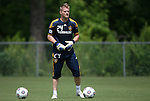 28 May 2012: Brian Perk. The Los Angeles Galaxy held a training session on Field 6 at WakeMed Soccer Park in Cary, NC the day before playing in a 2012 Lamar Hunt U.S. Open Cup third round game.
