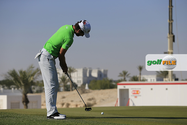 Alejandro CANIZARES (ESP) putts on the 10th green during Thursday's Round 2 of the 2015 Commercial Bank Qatar Masters held at Doha Golf Club, Doha, Qatar.: Picture Eoin Clarke, www.golffile.ie: 1/22/2015