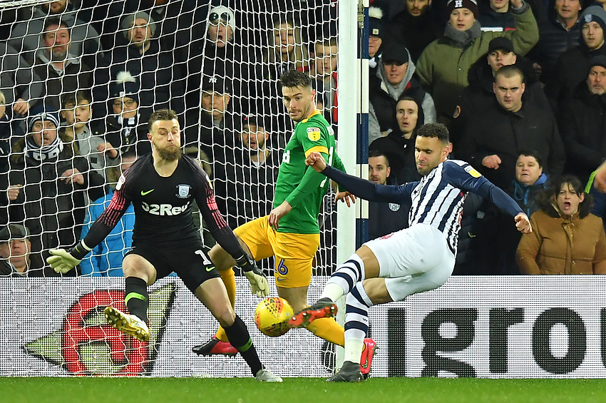 West Bromwich Albion's Hal Robson-Kanu scores his team's opening goal<br /> <br /> Photographer Dave Howarth/CameraSport<br /> <br /> The EFL Sky Bet Championship - West Bromwich Albion v Preston North End - Tuesday 25th February 2020 - The Hawthorns - West Bromwich<br /> <br /> World Copyright © 2020 CameraSport. All rights reserved. 43 Linden Ave. Countesthorpe. Leicester. England. LE8 5PG - Tel: +44 (0) 116 277 4147 - admin@camerasport.com - www.camerasport.com