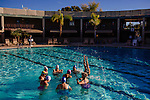 The Aqua Suns are a group of synchronized swimmers in Sun City, Arizona, an age-restricted city of retirees. They rehearse for an upcoming holiday show at the Lakeview Recreation Center Pool December 2, 2013.