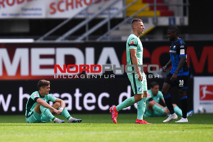 Enttaeuschung bei den Spieler der TSG Hoffenheim nach dem Spiel Pavel Kaderabek (TSG 1899 #3 r.), <br /><br />Foto: Edith Geuppert/GES /Pool / Rauch / nordphoto <br /><br />DFL regulations prohibit any use of photographs as image sequences and/or quasi-video.<br /><br />Editorial use only!<br /><br />National and international news-agencies out.